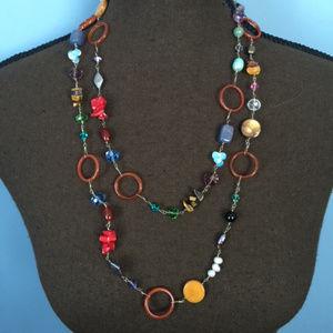 Vintage Boho Mixed Bead Necklace